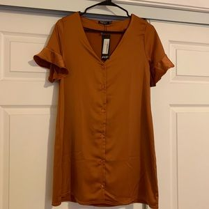 Nasty Gal Dresses - Nasty Gal Burnt Orange Dress